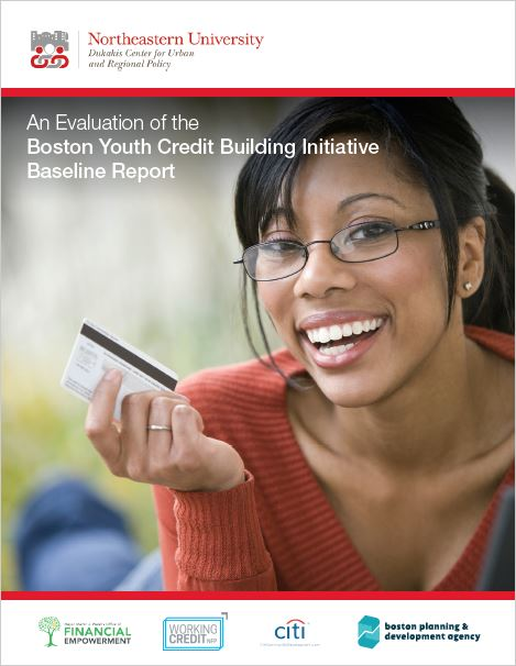 Report cover with woman holding credit card
